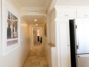 Hallway from Kitchen to Master Bedroom Suite Penthouse