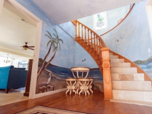 Entry with Spiral Staircase to the Penthouse