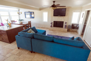 Den Area with Fireplace Unit A
